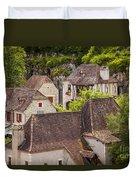 Saint Cirq Rooftops Duvet Cover