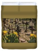 Saint Dominic Cemetery At Old D'hanis Texas Duvet Cover