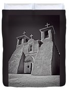 Saint Francis In Black And White Duvet Cover