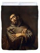 Saint Francis Of Assisi Duvet Cover