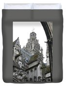Saint Gatien's Cathedral Steeple Duvet Cover