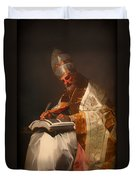 Saint Gregory The Pope Duvet Cover