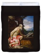 Saint Jerome In The Wilderness Duvet Cover