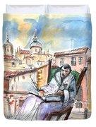 Saint John Of The Cross In Salamanca Duvet Cover