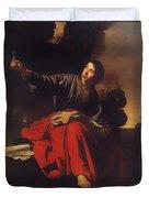 Saint John The Evangelist At Patmos Duvet Cover