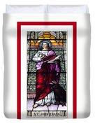 Saint John The Evangelist Stained Glass Window Duvet Cover