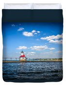 Saint Joseph Lighthouse And Pier Picture Duvet Cover