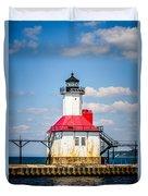 Saint Joseph Lighthouse Picture Duvet Cover by Paul Velgos