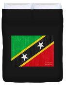 Saint Kitts And Nevis Flag Duvet Cover