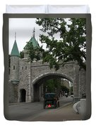 Saint Louis Gate In Ramparts Of Quebec City Duvet Cover