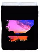 Saint Mary Lake Twilight Duvet Cover