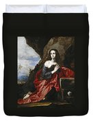 Saint Mary Magdalene In The Desert Duvet Cover