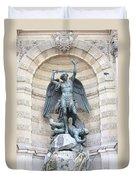 Saint Michael The Archangel In Paris Duvet Cover