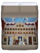 Saint Nicholas Erikousa 1822 Duvet Cover