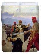 Saint Nicholas Of Myra Saves Three Innocents From Death Duvet Cover