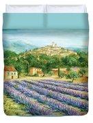 Saint Paul De Vence And Lavender Duvet Cover