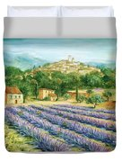 Saint Paul De Vence And Lavender Duvet Cover