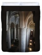 Saint Philibert Church Interior Burgundy Duvet Cover