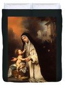 Saint Rose Of Lima Duvet Cover