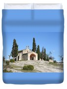 Saint Sixte An Old Chapel Duvet Cover