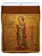 Saint Susanna Altar Duvet Cover