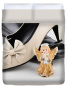 Saint Valentine Angel With Two Shoes Duvet Cover