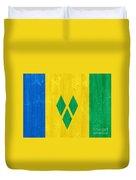 Saint Vincent And The Grenadines Flag Duvet Cover