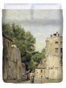 Saint-vincent Street, Montmartre Oil On Canvas Duvet Cover