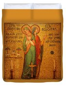 Saints Perpetua And Felicitas Altar Duvet Cover