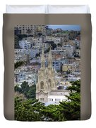 Saints Peter And Paul Church In San Francisco Duvet Cover