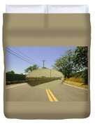 Sakonnet Point Road In Little Compton Rhode Island Duvet Cover