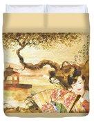 Sakura Duvet Cover by Mo T