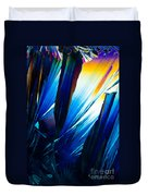 Salicylic Acid Crystals In Polarized Light Duvet Cover