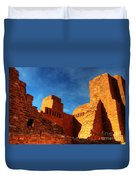 Salinas Pueblo Abo Mission Golden Light Duvet Cover