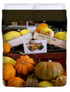 San Joaquin Valley Squash Display Duvet Cover