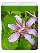 Salmonberry  On Trail To Wapta Falls In Yoho Np-bc  Duvet Cover