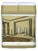 Salon, From Repertoire Of Modern Taste Duvet Cover by Jacques-Emile Ruhlmann