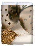 Salt And Pepper Shaker Spilled Duvet Cover