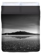 Salt Cloud Reflection Black And White Duvet Cover