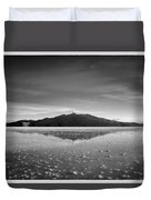 Salt Cloud Reflection Black And White Select Focus Duvet Cover