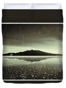 Salt Cloud Reflection Black And White Vintage Duvet Cover