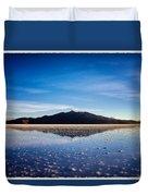 Salt Cloud Reflection Framed Duvet Cover