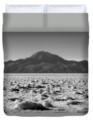 Salt Flat Surface Black And White Duvet Cover