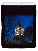 Salt Lake City And County Building At Night Duvet Cover