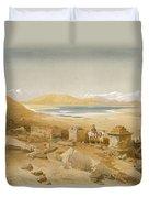Salt Lake - Thibet, From India Ancient Duvet Cover