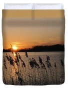 Salt Marsh Sunset Duvet Cover