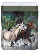 Salt River Horseplay Duvet Cover