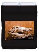 Salt Water Crocodile Skull Duvet Cover