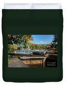Saltford Locks  Duvet Cover