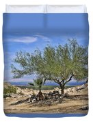 Salton Sea Oasis Duvet Cover